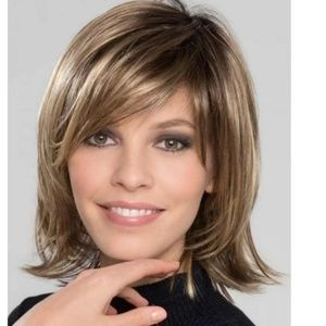 Wig Brown with Blonde highlights